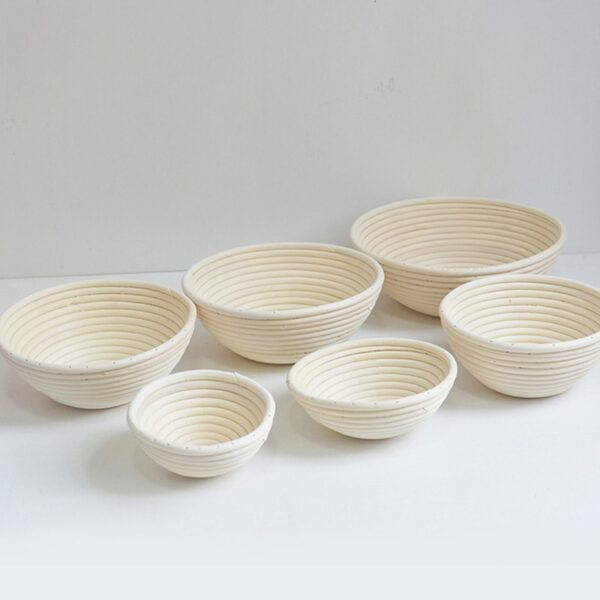 YOMDID Natural Rattan Bread Storage Basket Round Oval Baguette French Bread Basket Dough Fermentated Baskets Kitchen Pastry Tool