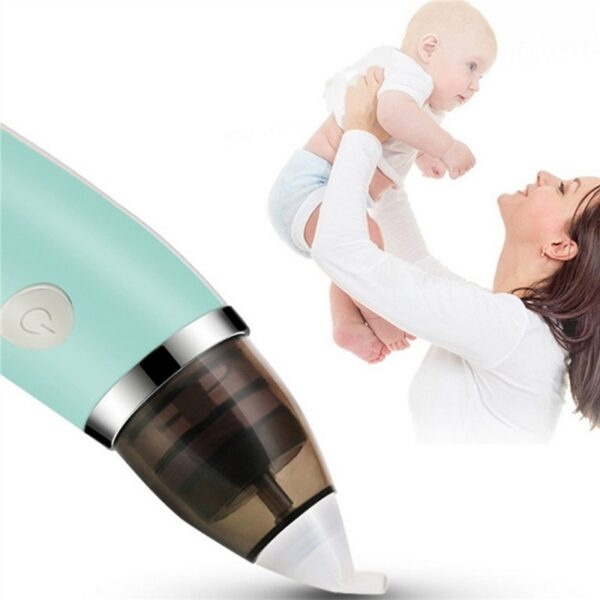 New Baby Nasal Aspirator Electric Safe Hygienic Nose Cleaner Baby Care Nose Tip Oral Snot Sucker For Newborn Infant Toddler