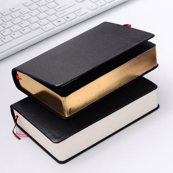 Retro Leather Notebook Thick Paper Bible Diary Book Notepad New Blank Weekly Plan Writing Notebooks Office School Supplies