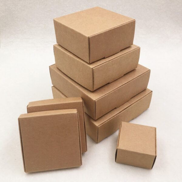 24pcs/lot 7 sizes Small Kraft cardboard packing gift box handmade soap candy For Wedding Decorations Event Party Supplies