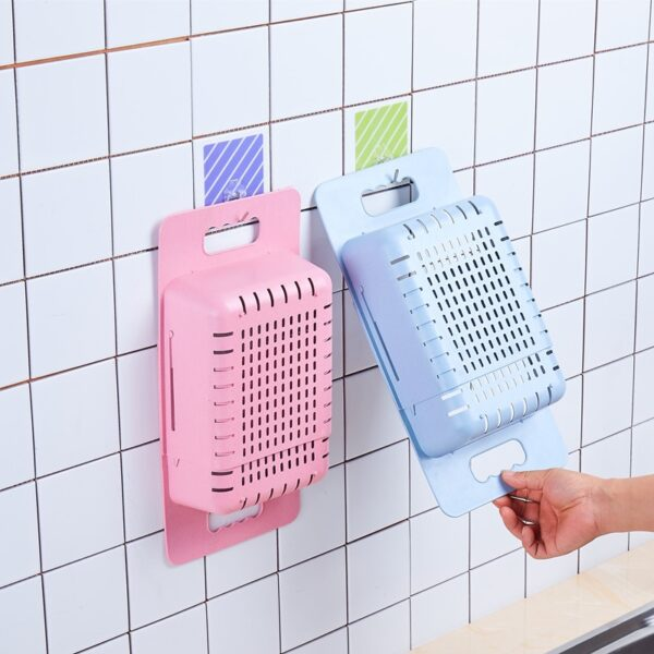 Silicone Vegetable Washing Basket Retractable Adjustment Fruit And Vegetable Basket Collapsible Sink With Handle Kitchen Tools