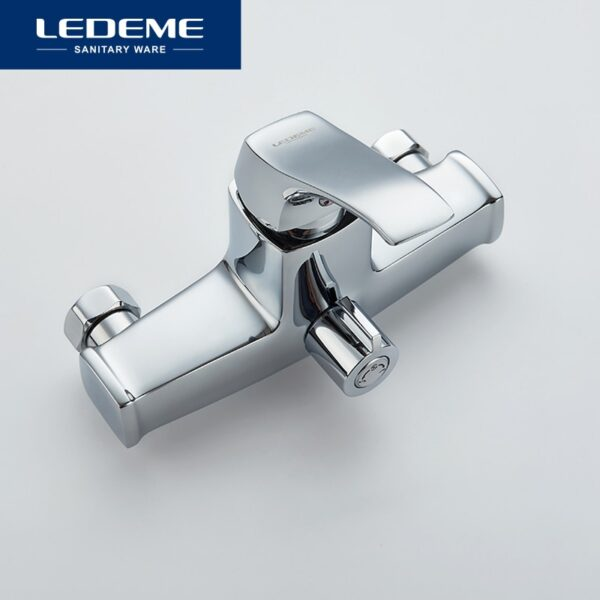 LEDEME Bathroom Fixture Sets Faucets 1 SET Set Bath Shower Tap Bathroom Shower Set Bathtub Faucet Waterfall Shower Head L2242