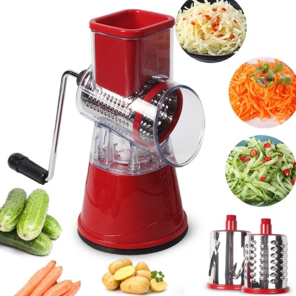 Multi-function rotary grater vegetable shredded potato machine vegetable grater manual cabbage kitchen knife kitchen tool