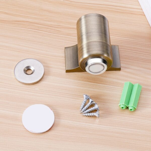 Magnetic Door Stopper Zinc Alloy Door Stop Magnetic Door Holder Toilet Glass Door Stop Furniture Hardware Home Improvement