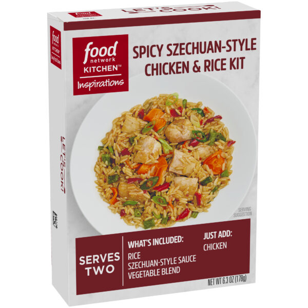 (2 Pack) Food Network Kitchen Inspirations Spicy Szechuan-Style Chicken & Rice Meal Kit, 6.3 oz Box
