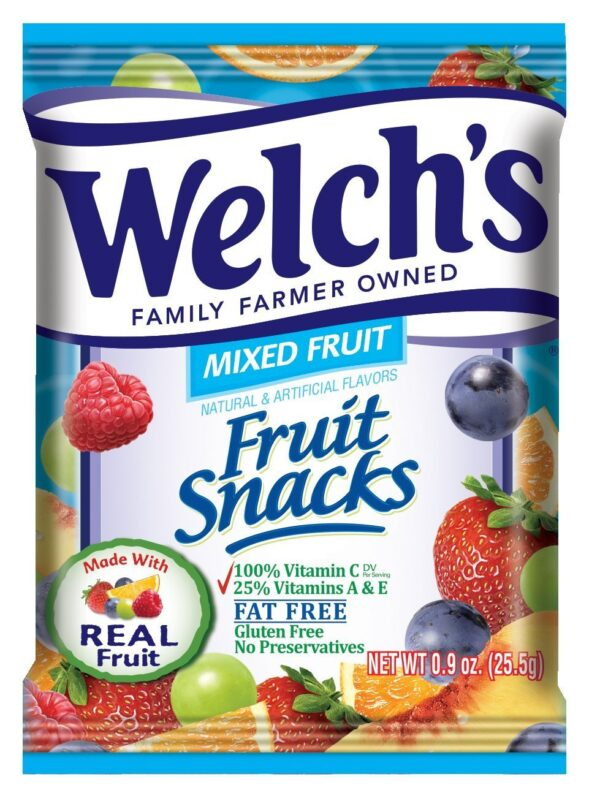 Welch's Fruit Snacks, Mixed Fruit, 40 ct, 0.9 oz