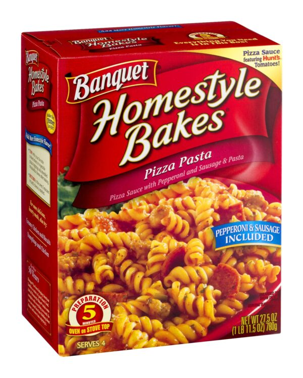 (2 Pack) Banquet Homestyle Bakes Pizza Pasta Meal Kit, 27.5 Ounce