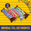 SNICKERS, TWIX, 3 MUSKETEERS & MILKY WAY Chocolate Candy, Halloween Full Size, 18 pieces, 33.31 oz box